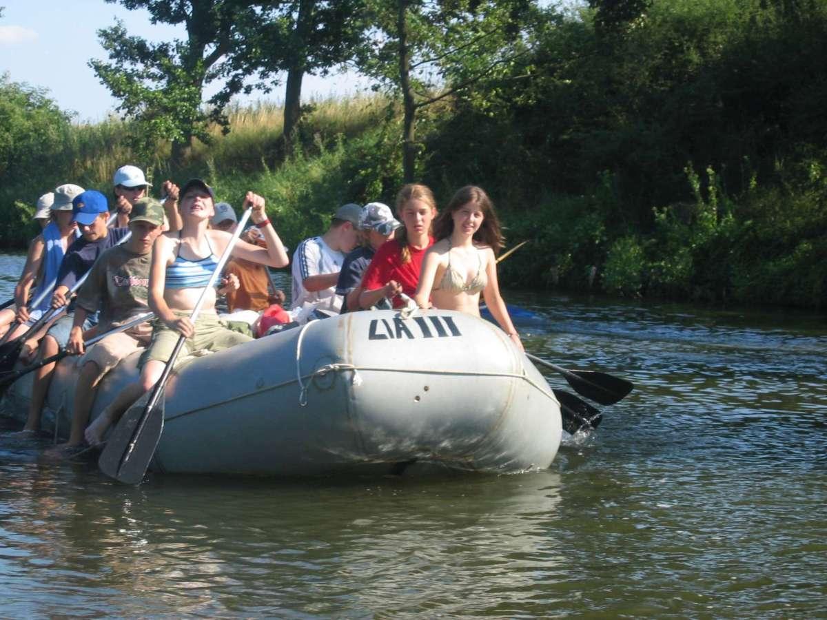 Mit dem Schlauchboot unterwegs